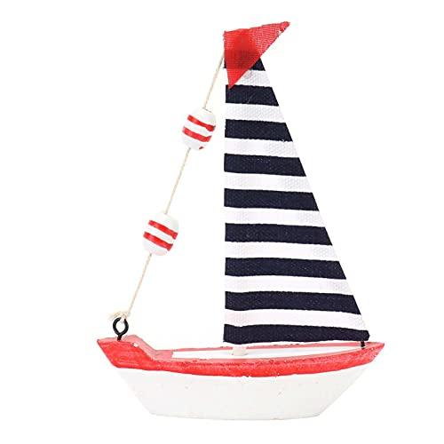 Ong Velero de Madera, Modelo de Barco de Vela Exquisito para Decoraciones de Interior