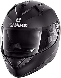 Shark Casco de moto RIDILL BLANK Mat KMA, Negro, L