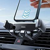 LISEN Handyhalterung Auto, Schwerkraft Pkw Handyhalter für Auto Lüftung Clip Kfz Handy Halterung zubehör für iPhone 11mini, 12 proMax, XR, 8, 7, 6s, Samsung Galaxy S8 10 S7, Huawei Mate 20 Pro