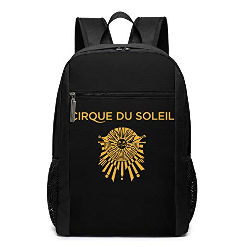 Lawenp Cirque Du Soleil Logo Backpack 17 Inch Laptop Bags College School Backpack Casual Daypack for Travel