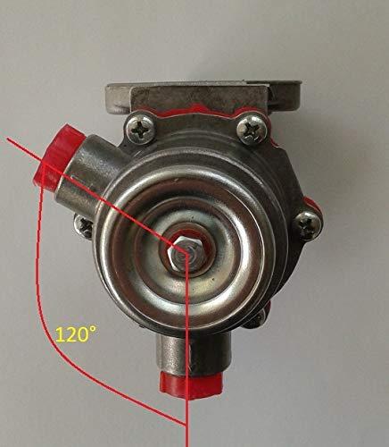 Kraftstoffpumpe für Deutz, Lombardini, LDW, Anschlüsse im Winkel von 120°