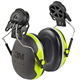 3M - 93045937315 Personal Protective Equipment Peltor Ear Muffs, Noise Protection, Hard Hat Attachment, NRR 25 dB, Construction, Manufacturing, Maintenance, Automotive, Woodworking, Heavy Engineering, Mining, X4P3E, Black/Chartreuse