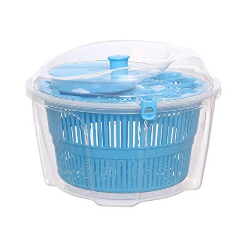 Scola insalata in plastica Blu Trasparente
