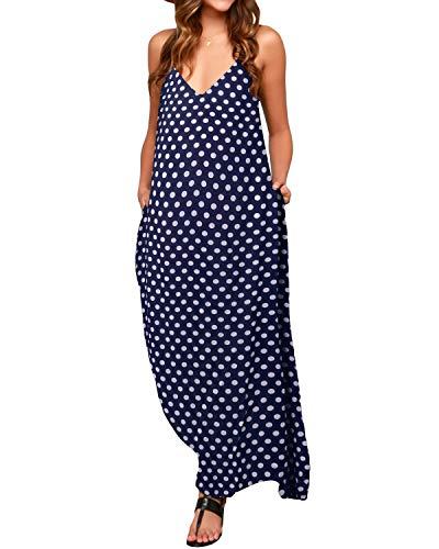 ZANZEA Maxiklänningar för kvinnor sexig dam strandklänning boho V-ringad sundress Kaftan