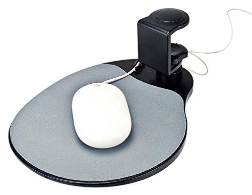 Aidata UM003B Mouse Platform Under Desk, Sturdy Metal Clamp Fits Onto Desks Up To 40mm/1.57',...