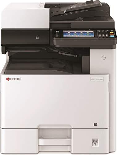 Kyocera Klimaschutz-System Ecosys M8130cidn/KL3. 3-in-1 Farb Multifunktionsdrucker. 3 Jahre Kyocera Life vor Ort Garantie. Duplex-Einheit, Mobile-Print 30 Seiten/Minute für Formate bis DIN A3.