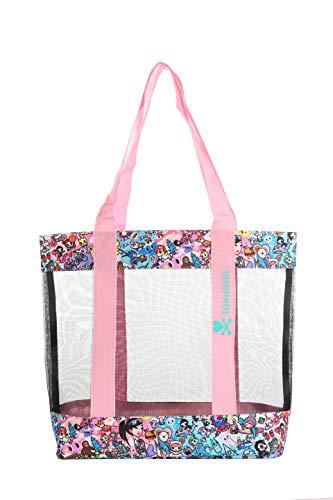 Tokidoki California Dreamin' 16.5' x 14.25' Multi-Purpose Tote Bag w/ 11' Strap Drop & Mesh Sides