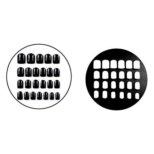48Pcs Nail Art Briller Autocollants, Faux Ongles Extension Stamper Kit/Dames 3D Nail DIY Décoration Paster Outil pour les Femmes Filles avec 2 Colle - 2 Couleurs en Un Ensemble