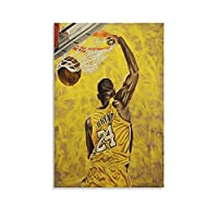 Kobeバスケットボール絵画キャンバスプリント壁の装飾モダンポップアートエントランス絵画キャンバ壁掛けインテリア絵画部屋の装飾フレームレス 24×36inch(60×90cm)