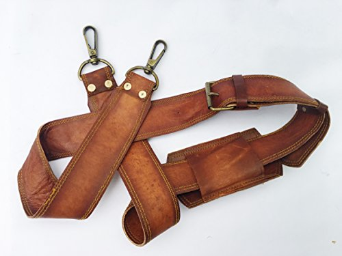 Vintage Couture Leder Verstellbare, gepolsterte Ersatz Schultergurt mit Metall Swivel Haken für Messenger, Laptop, Kamera, Duffle Taschen und mehr