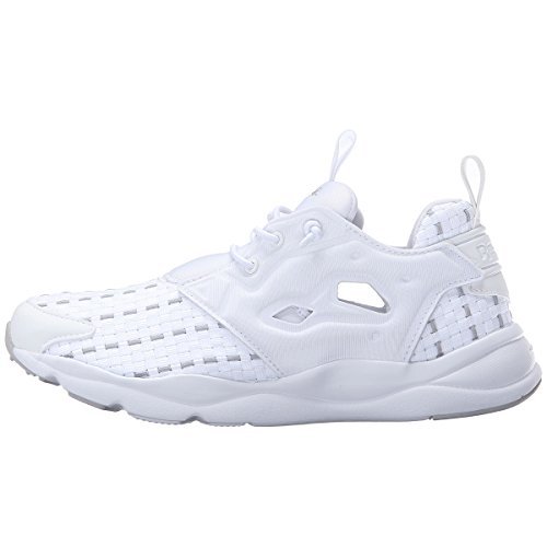 Reebok Men's Classics Furylite New Woven Sneaker (13 D(M) US, White/Steel (AR3445))