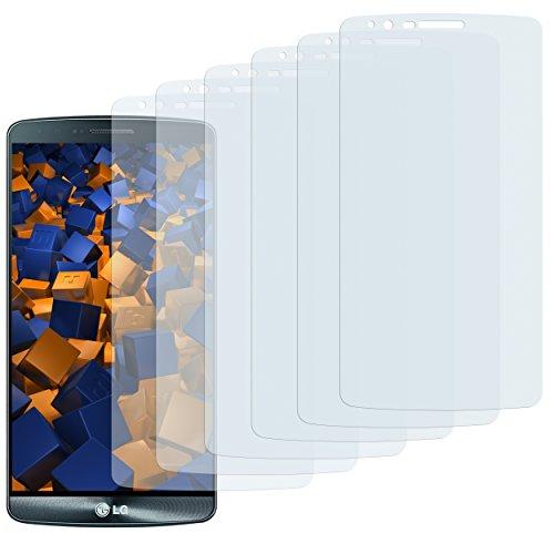 mumbi Schutzfolie kompatibel mit LG G3 Folie klar, Bildschirmschutzfolie (6x)