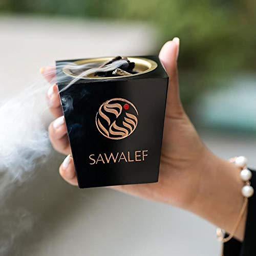 SAWALEF Bakhoor Discovery Set (6 Variety)   for Personal/Home Use with Electric/Traditional Charcoal Burner   Includes Dukhoon, Muattar and Agarwood Chips   by Swiss Arabian   Exotic Oudh and Attar
