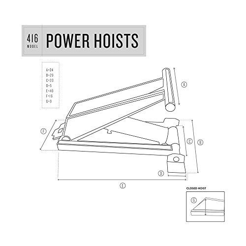6 Ton (12,000 lb) Dump Trailer Hydraulic Scissor Hoist Standard Kit- Power Hoist 416