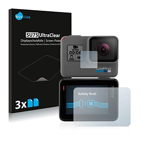savvies 6-Pezzi Pellicola Protettiva Compatibile con GoPro Hero6 Black Protezione Schermo Trasparente