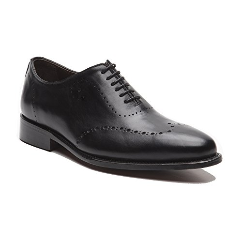 Prime Shoes Bari 2 Rahmengenäht Schwarz Box Calf Black Oxford Schnürschuh aus feinstem Kalbsleder D 46 / UK 11