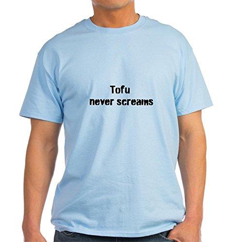 CafePress Tofu Never Screams T-shirt en coton léger - Bleu - Medium