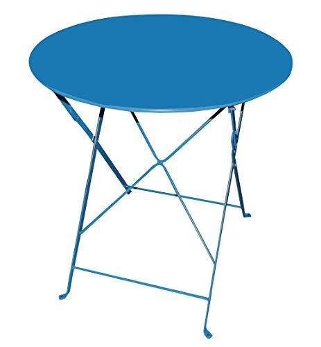 talenti metalen tafel klaptafel Ø70cm blauw blauw blauw blauw gekleurd tuintafel bijzettafel tuin balkon bistrotafel