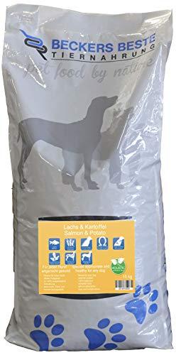 Lachs und Kartoffel   Beckers Beste Tiernahrung   getreidefreies Hundefutter   Allergiefutter   Trockenfutter für alle Hunderassen   hohem Fischanteil in der Trockensubstanz   artgerecht & besonders gut verträglich   Holistic   gesunde Tiernahrung   aus liebe zu Deinem Tier.