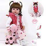 ZIYIUI Bambole Reborn 19 Pollici 47cm Rinato Bambino Bambola Vinyl Simulazione Morbido Silicone Vivido Realistico Reborn Bambole Femmine Bambina Giocattolo per 3 Anni
