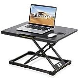 Fenge スタンディングデスク 昇降式デスク パソコンデスク リフティングテーブル 座位・立位両用昇降 天板幅 650mm 折りたたみ式 無段階高さ調整可能 収納ケース付き オフィスワークテーブル ハンドル付き SD108003MB
