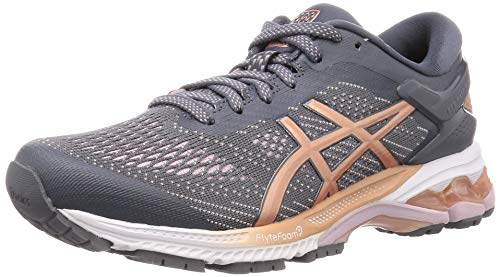 Asics Damen Gel-Kayano 26 Running Shoe, Metropolis/Rose Gold, 41.5 EU