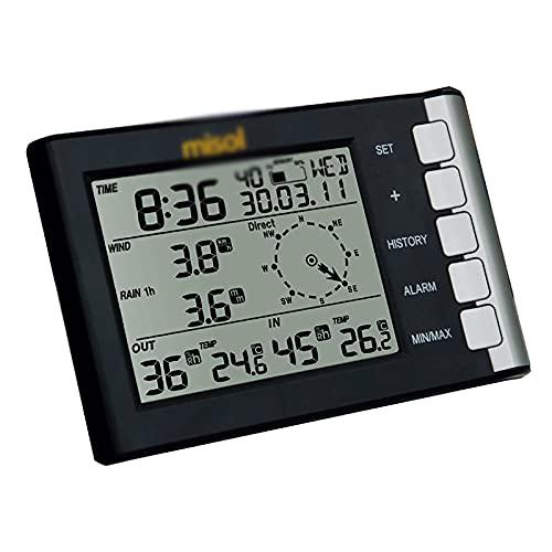 Dfghbn Kleine Wetterstation Mini Wettervorhersage Machine Kleinwarenwetterstation Thermo-Hygrometer Regenmesser Anemometer (Farbe : Photo Color, Size : One Size)