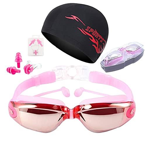 Seii Gafas De Natación, Antiniebla Gafas para Nadar Protección UV Sin Fugas para Adultos Y Niños, Gafas De Natación con Puente Nasal Suave para Hombres, Mujeres, Adultos Y Adolescentes Astonishing