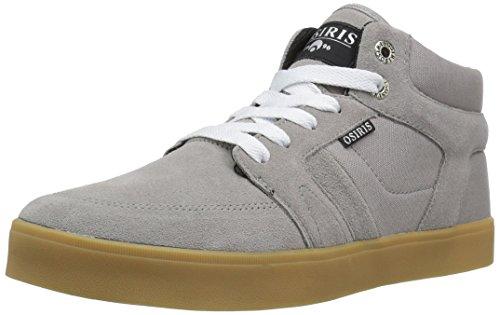 Osiris Men's Helix Skateboarding Shoe, Charcoal/Charcoal/Silver, 8.5 M US