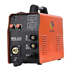 HITBOX New Arrival Mig Welder MIG250 MIG TIG ARC Welding Machine Gas Gasless Welder 220V Mig Welding Machine 3 in 1 from SHENZHEN UNITWELD WELDING AND MOTOR