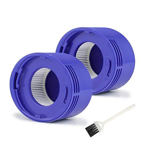 MXZONE 2 Premium Vakuum HEPA Post Filter Set kompatibel mit Dyson V7 V8 Absolute und Animal Staubsauger Ersatzfilter Teil #967478