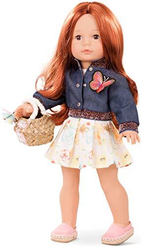 Götz 1890304 Precious Day Girls Julia Macaron Puppe - 46 cm große Stehpuppe, Lange braune Haare, braune Schlafaugen - 7-teiliges Set