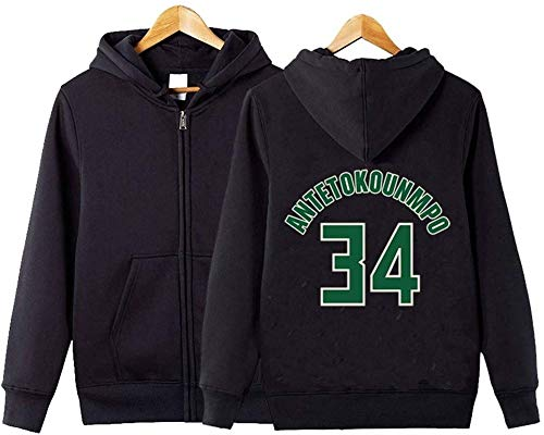 BBLTO Giannis Antetokounmpo - Sudadera con capucha para hombre, manga larga, casual, camiseta activa (color: A, talla: XXXL)
