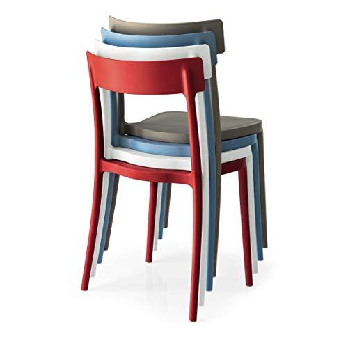 Connubia Set 4 sedie Argo Bianche