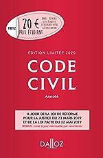 Code civil 2020 annoté. Édition limitée - 119e éd. de Pascale Guimard