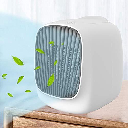 Womdee Climatiseur Air Portable Cooler, Mini Climatiseur Mobile Silencieux,USB Ventilateur Climatiseur Mobile 4 en 1 Climatiseur...