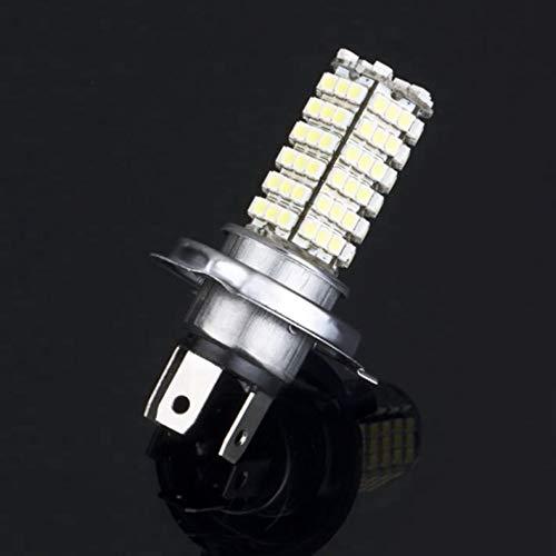 H4 68 LED 3528 1210 SMD Blanco puro Coche Auto Fuente de luz Faros antiniebla Lámpara de conducción Bombilla DC12V Aluminio Metal