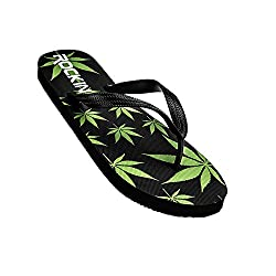 Marijuana Leaf Flip Flop Shoes