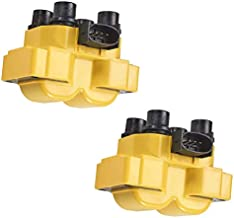 ENA Heavy Duty Ignition Coil Pack of 2 Compatible with Ford Mazda Mercury Escort Ranger 626 B2500 Cougar Mountaineer 1.9L 2.0L 2.3L 2.5L 4.6L 5.0L Replacement for FD487