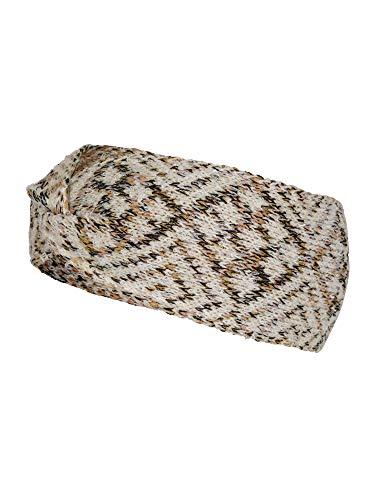 LOEVENICH modisches Damen Jacquard Strickstirnband, Farbe: multipastell