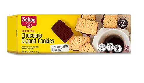 Schar Cookies, Chocolate Dipped, 5.3 Ounce