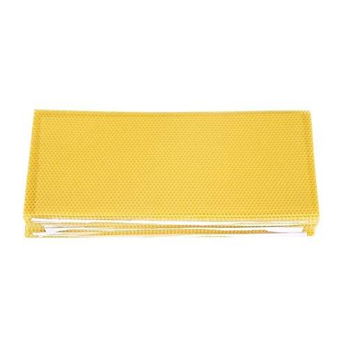 MINGMIN-DZ Dauerhaft 30PCS Bienenzucht Nistkasten Foundation Beeswax Honeycomb Sheets Beekeeper Werkzeuge