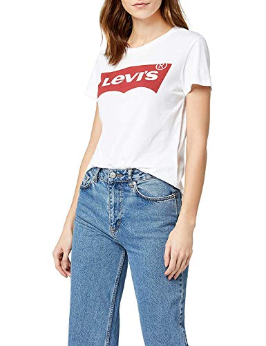 Levi's The Perfect Tee, Camiseta, Mujer, Blanco (Batwing White Graphic 53), L