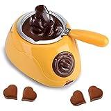 Melting Pot al Cioccolato - Melting Pot di Caramelle Elettriche - Macchina Per Fondere Il Formaggio - Cioccolato Adorabile - Strumento da Cucina - Con Set di Stampi Fai-Da-Te (Spina EU)(Giallo)