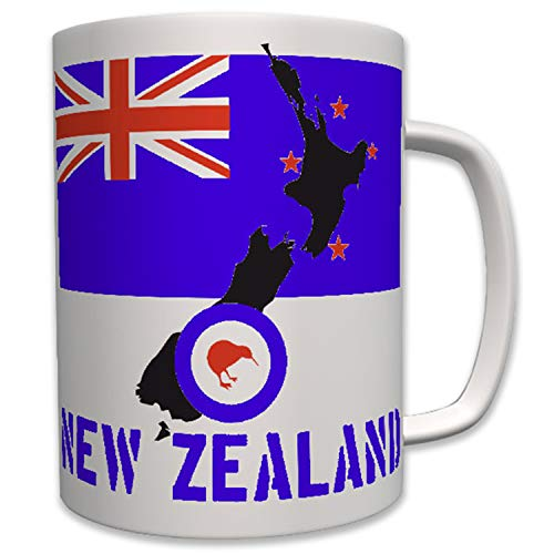 New Zealand Neuseeland Kiwi Vogel Flagge Flag Wappen Abzeichen - Tasse #6410