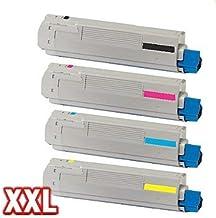 compatible XXL Kit de toner para OKI C5650 C5650N C5650DN C5750 C5750N C5750DN - Set De Toner