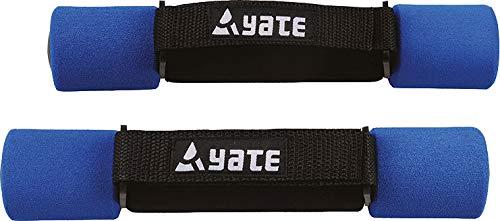 Yate Neopren Soft Hanteln Set Gymnastikhanteln 2 x Fitnesshanteln Handschlaufe 1kg blau mit Softtouch Griffen für Aerobic Fitnesstraining und Leichthantel-Training