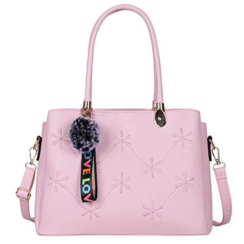 LSAltd Mode Frauen einfarbig hairbal umhängetasche umhängetasche Handtasche Reisetasche