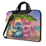 Laptop Sleeve Bag Anime Stitch and Angel Laptop Sleeve Case Cover 15.6 Inch, MacBook Air Pro Notebook Sleeve Case, Tablet Briefcase Ultra Portable Protective Case