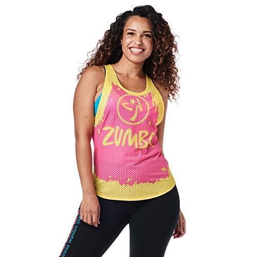 Zumba Tops de malla de ajuste holgado para mujeres fitness atlético entrenamiento sin mangas para mujeres - Rosa - Small